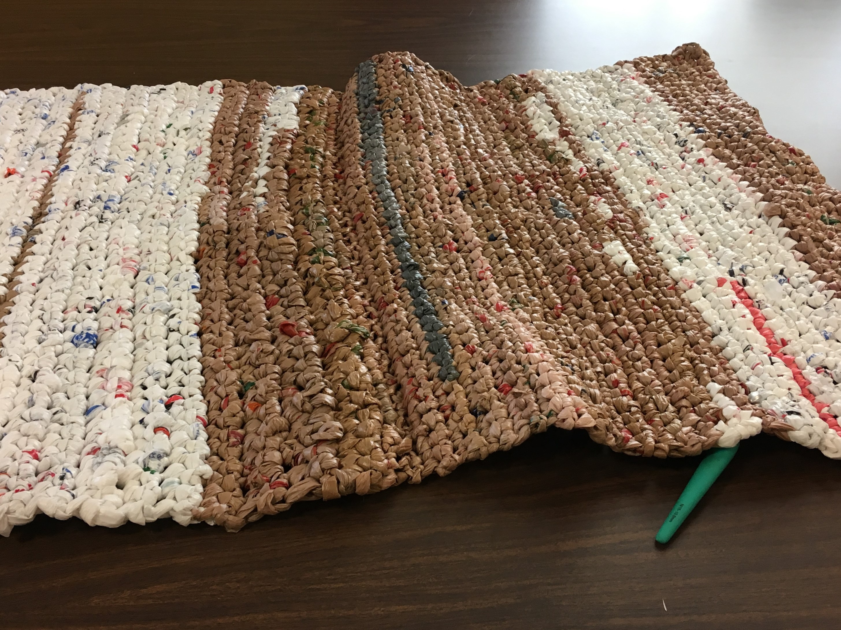 Volunteer in Mesa AZ - making sleeping mats for the homeless