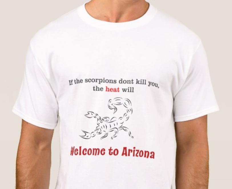 Welcome to Arizona scorpion t-shirt
