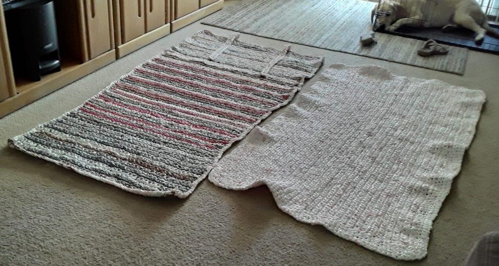 Sleeping mats and sleeping dog